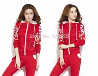 new autume winter fashon print sport suits hoodies 2 piece sets womens costume conjunto saia e blusa tracksuits clothing
