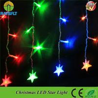 3pcs/Lot 4x0.6M 220V Festival Holiday Curtain light Wedding Party Garden Christmas decorative led string Xmas star string light