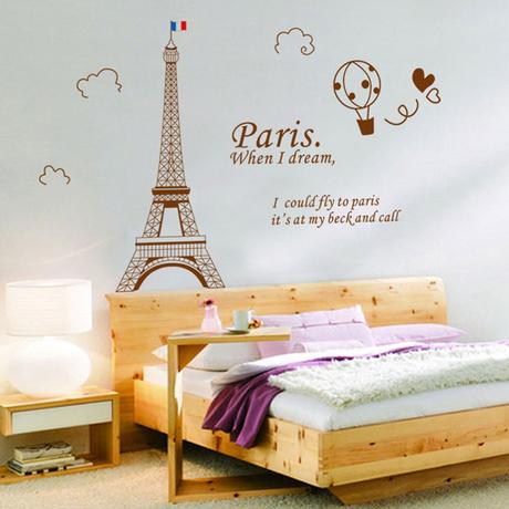 2014 nova moda da Torre Eiffel DIY removível decoração Home adesivos de parede para o quarto estudo sala de estar sala de estar(China (Mainland))