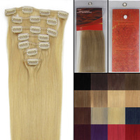 Hot Fashion Gift 20 inch 7 Pcs Clips-In Straight Hair Extension 70g/pack color #24 Golden Blonde