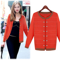 cardigans 2014 women fashion Double breasted slim cardigan long-sleeve outerwear 7 Colors size S-XXL