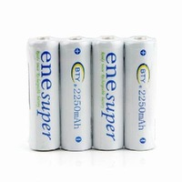 High Quality BTY 4 x 2250mAh AA Ni-MH Rechargeable Battery for Camera Toy Free Shipping