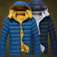 Plus Size M-3XL Winter Brands Down Jacket Men's Coat Man Casual Hoodies Outwear Fashion Parka Casacos Masculino 30146