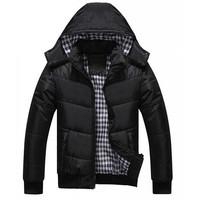 Winter Autumn Fashion Brands Men Down Jackets Casual Hoodies Warm Black Blue Plus Size Coat Parkas Thick Outwear 30149