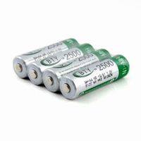 4 x New 2500mAh 1.2V AA Ni-MH Rechargeable Battery