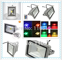 RGB flood light 30W 20W 10W Contemporary Projection lamb IP68LED Floodlight Flood light +Remote Control Pass CE ROHS