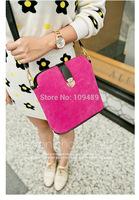 Free Shipping New Arrival Elegant Candy Corlor Nubuck Leather Women's Handbag Messenger Bag, Shoulder Bag, Tote Bag A005