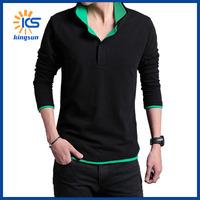 Free Shipping 2014 Fashion Youth Casual T-shirt Long Sleeve Round Neck Man Slim Mutil Color Men Tee Shirts M-3XL