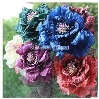 100Pcs /Lot Wholesale 12*60CM  Top Quality  Romantic  Fabric Rose  Flower Wedding New Year Christmas Decoration Flowers Supply