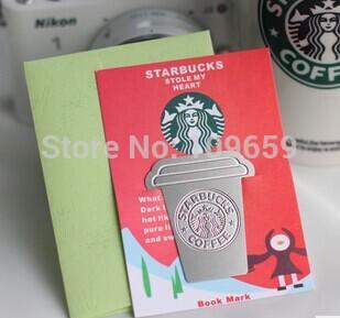 Free shipping Creative starbucks metal bookmark Collector's Edition,gift bookmark,Chritmas gifts,10pcs/lot,wholesale(China (Mainland))