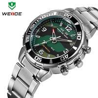 WEIDE Luxury Brand Watches Men Stainless Steel 30M Waterproof Japan Movement Quartz Analog Casual Sports Wristwatch Original