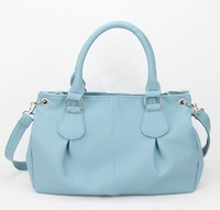 H041(skyblue)PU Leather Handbag, Suitable for Women, OEM Orders are Welcome,Free shipping!