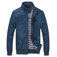 Autumn Spring Man Casual Jacket Men Coat Mandarin Collar Plus Size M-6XL Overcoat Fashion Brand Black Blue Outwear 30147
