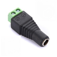 Free Shipping 5 Pieces 2.1 x 5.5mm DC Power Female Plug Jack Adapter Connector Plug for CCTV LED Light