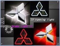 LED Car Decal Logo Tail Light for Mitsubishi Lancer 10 Lioncel Auto Badge Light Emblem Lamp White to Red Free Shipping