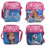 2014 4 Style Elsa & Anna Frozen Swagger Bag Hand Bag Children Kids Kindergarten Cartoon Single Shoulder School Bag Free Shipping