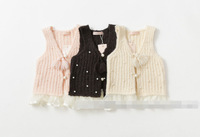 New Spring and Autumn children sleeved jacket baby girls pearl clothing     BB406CT-38