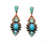 New 2014 Fashion Jewelry Personality exaggerated flower joker style women's earrings Free Shipping JZ102714