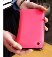 New HOT Cute Crown handbag Fashion Wallets clutch purses Women leather wallet cell phone bag Wholesale