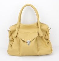 H044(apricot)PU Leather Handbag, Suitable for Women, OEM Orders are Welcome,Free shipping!