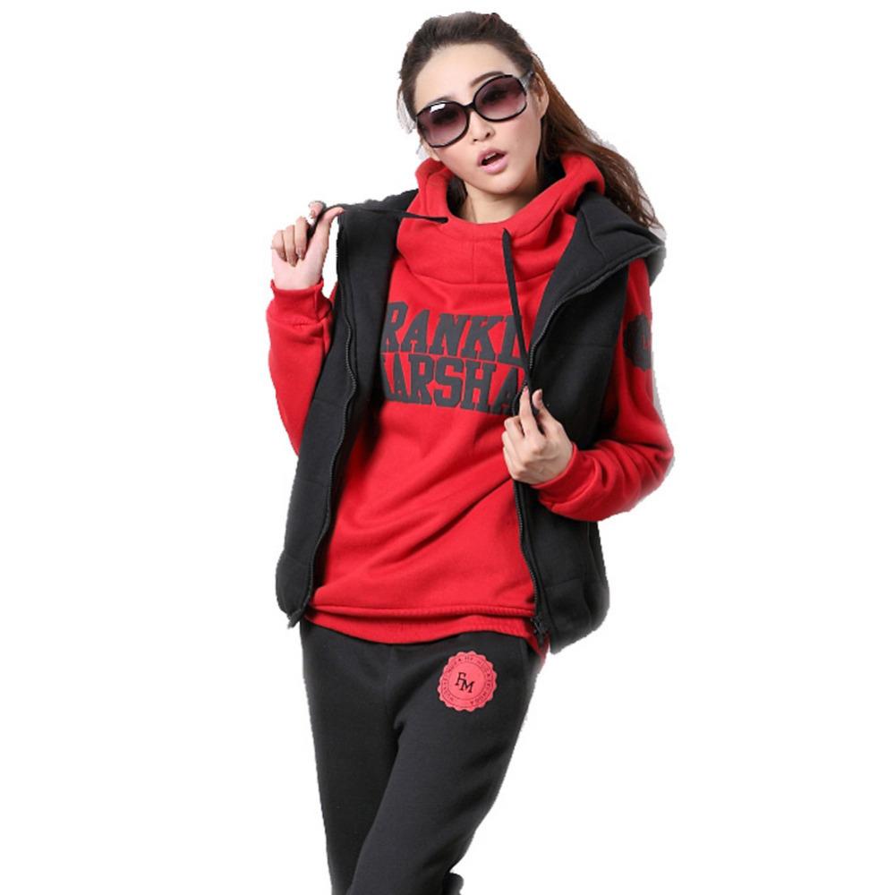 Спортивный костюм женщина зима Толстовки 3pieces/набор