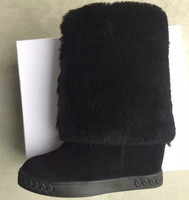 Wholesaels Casade Newest Winter Knee High Boots Height Increasing Winter Fur Boots For Women!