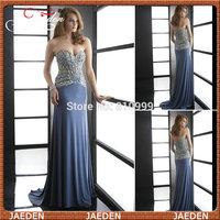ZE028 Shining Sweetheart Off Shoulder Heavy Beading Sequins Elegant Sexy Backless A-Line Chiffon Long Evening Dress Prom Dress