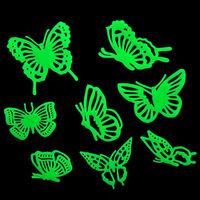 Beautiful Butterflies Glow in the Dark Fluorescent Plastic Home Hospital Classroom Decorate Wall Sticker  #gib