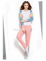 new autume winter casual fashion print crop top sport suit HOODIES 2 piece sets womens conjunto saia e blusa clothing
