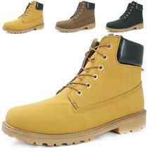 Los nuevos hombres grandes de cuero tamaño patean los zapatos de hombre de invierno con raquetas de nieve martin hombre Botas de piel de vaquero otoño pisos de terciopelo de los hombres de botas de tobillo 538(China (Mainland))