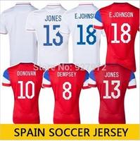 Free Shipping Top Quality USA Soccer Jersey 2014 DEMPSEY ALTIDORE USA Jersey USA World Cup Jersey Football Shirt