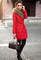 Free Shipping 2014 Fashion Slim fur collar down jacket coat  FT1702