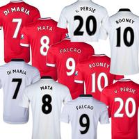 Free Customize Falcao soccer jersey 14 15,Di Maria Mata jersey 2015 Rooney V.persie soccer shirt football shirts free shipping