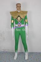 Mighty Morphin Power Rangers Green Ranger Cosplay Costume light green version