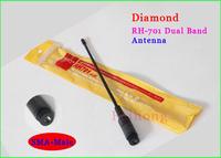 Diamond RH-701 SMA-Male VHF/UHF Dual Band Antenna For Walkie Talkie TonFa UV-985 ZT-2R UV-3R TH-UV3R KG-UV6D PX-2R VX-3R