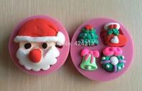 Christmas Series Shape Fondant 3D Silicone Mould Cake Decoration Emboss Fondant Chocolate Icing Tools -P267