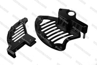 Billet CNC Front+Rear Disc Brake Guard Kit For KTM SX EXC SXF XC SXF 125-530CC All Models 2003-2013 BLACK
