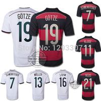 2014 Home & Away Top Thail AAA + Best Quality Gotze Klose Muller Lahm Reus Ozil Schweinsteiger Football Jerseys Men Soccer Shirt