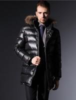 NEW 2014100% Brand New High Qulity Hoyanp Wnter Down Coat Men Real Fur Collar Hooded Down Coat Parka Winter jacket men 4XL