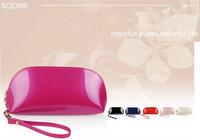 New Senior PU Patent Leather Evening Bag Women Cosmetic Bag Clutch Purse Mobile Phone Bag Women Handbag 072A