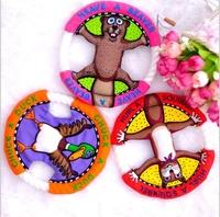 1 PCS UFO color random-- The cartoon Cotton animal shapes Dog Toys Pet  Vocalization cat Toys