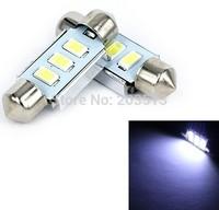 50pcs/lot car led festoon 3smd 3 led smd 5630 36mm Car canbus led OBC ERROR FREE Car License Plate Light lamp Bulbs