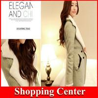 Freeshipping 2014 new woman woolen coat Winter new lambs wool and cotton wool coat Korean style fashion winter coat jacket