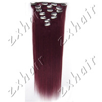 Hot Fashion Gift 20 inch 7 Pcs Clips-In Straight Hair Extension 70g/pack color #Bug