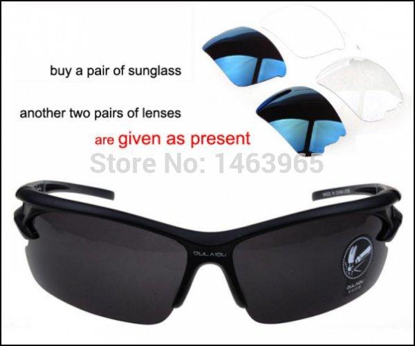 comprar óculos de sol coloridos explosão à prova de vento de ciclismo esportes podem obter mais dois pares de lentes como presente(China (Mainland))