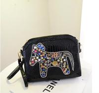 Manufacturers wholesale crocodile Design colorful pu bag fashion layered handbag lady single shoulder bag