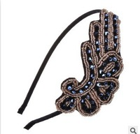 2014 New Women Fashion Trendy Bling Angel Wing Headband Hair Band Free shipping hair accessory for women B219
