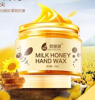 2014 hand film whitening exfoliating milk honey wax Whitening Moisturizing Hand Hand Care Skin Care Wholesale free shipping