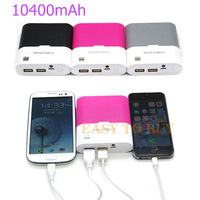 10400mAh Universal External Backup Battery Portable Power Bank Battery Charger for Mobile Phone Samsung with Dual USB
