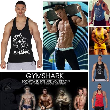 tubarão algodão tank top ginásio musculação e fitness roupas esporte músculo homens top tops sem mangas para fisiculturista grossista colete(China (Mainland))